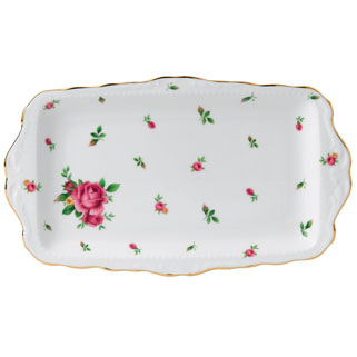 SANDWICH TRAY NEW COUNTRY ROSES WHITE
