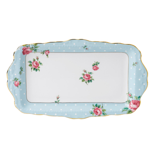 SANDWICH TRAY POLKA BLUE